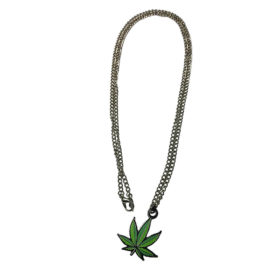 pot leaf chain jewelry necklace with charm sample