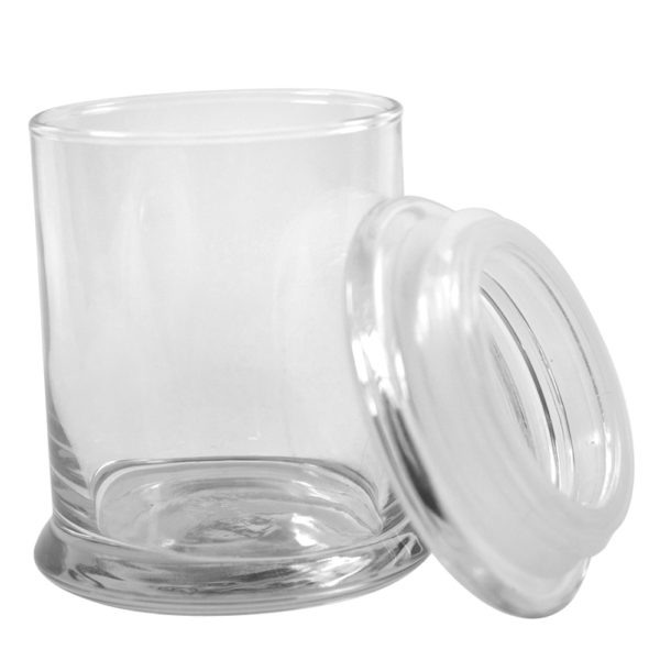 stock 12 ounce glass spice stash jar container sample